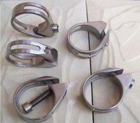 1pcs/lot Titanium Alloy Bicycle Titanium seat clamp BIKE SEAT CLAMP FOR 31.8mm SEATPOST 17g