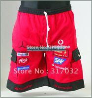 Red Motorbike pants,men NARSCAR red car logo beach pants for Benz free shipping