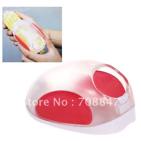 Practical Mouse Shaped Dishwasher Safe Corn Stripper Kernals Remove Tool with Top Container (White with Red)(China (Mainland))