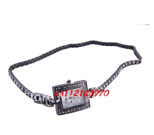 Fashion Elegant women watch bracelet watch matel watch with crystal 10pcs/lot+free shipping(China (Mainland))