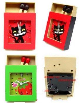Matchbox creative new fancy alarm clock, alarm clock pointer type cartoon