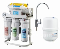 6 stages water filter with shelf and pressure gauge