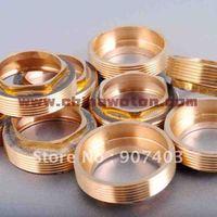 Free shipping wholesale 30pcs/lot 40mm faucet cartridge raw brass nut oblique cap