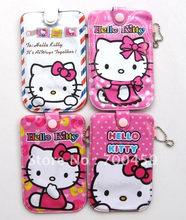 Grátis frete 100 pcs olá kitty bolsa bolsas de telefone celular cobre caso G4(China (Mainland))