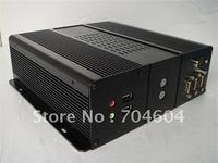 Mini-ITX  CASE,Full aluminum alloy (black) /DC-ATX PSU/support 2.5 HDD/ for car pc