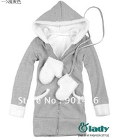 Free Shipping / Women's Hoodies / Free Size /Four colors/ Cotton / Long Sleeve/Sweater+Glove/Guard coat unlined upper garment