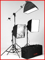 JINBEI 3 Soft Box Continuous Light Kit professional Studio flash lighting kit photographic equipment