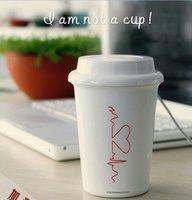 10pcs/lot free shipping Coffee Cup Humidifier/USB Mini Humidifier
