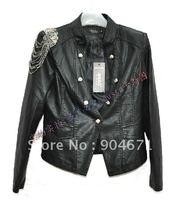 #11 Cardigan Womens PU leather short