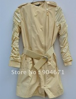 #14 Women wear new leather trench coat to combine fashion leather jacket