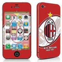acmilan red sticker for iphone 4 /color film/ soccer fans standard B