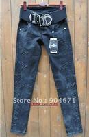 #69 Korean slim diamond hip skinny jeans pencil pants girl autumn trousers