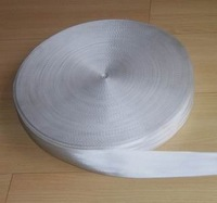 30 meter  ROLL 48mm wide SEAT BELT SAFETY STRAP WEBBING SHABBY WHITE 7 BARS FREE SHIP