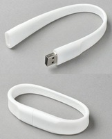 Free shipping Wholesale full capacity 4GB 8GB 16GB 32GB USB 2.0 Memory Stick Flash Pen Drive, white bracelet D2