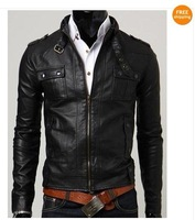 free shipping! Men's casual leather jacket  LJ05