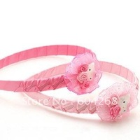 2 colors pink ,hot pink Sweet Hello Kitty girls hairbow hairband headband Hair accessories 100pcs/lot Free Shipping
