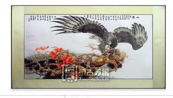 Embroidery book picture scroll, feiying-the eagle, wall painting, China country gift, embroidery