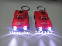 Solar mini car with led flashlight keychain