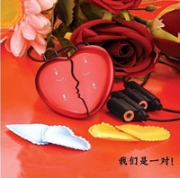 Free Shipping,Really 4GB Style heart mp3 beautiful heart mp3 with touch pad and two sides working