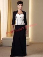 Fast shipping !!! Custom-made social plus size formal dresses with jacket dress SE112