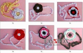 HOT!! 40pcs/lot Handmade Crochet Knitting Baby Girls' Headbands/Hairbands Ribbons,Christmas Gifts,Free Shipping!