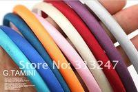 7mm Simple Fresh Color Fashion Row Satin Ribbon Covered DIY Headbands / Hairbands