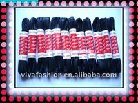 DHL free shipping  100pair/lot , 4mm width , 75cm long  flat waxed shoelace/ wax shoelace/cotton shoelace