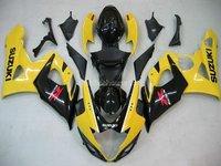 Free shipping SUZUKI 05-06 GSXR1000 2005 2006 GSXR 1000 Bodywork Fairing K5 150 yellow black