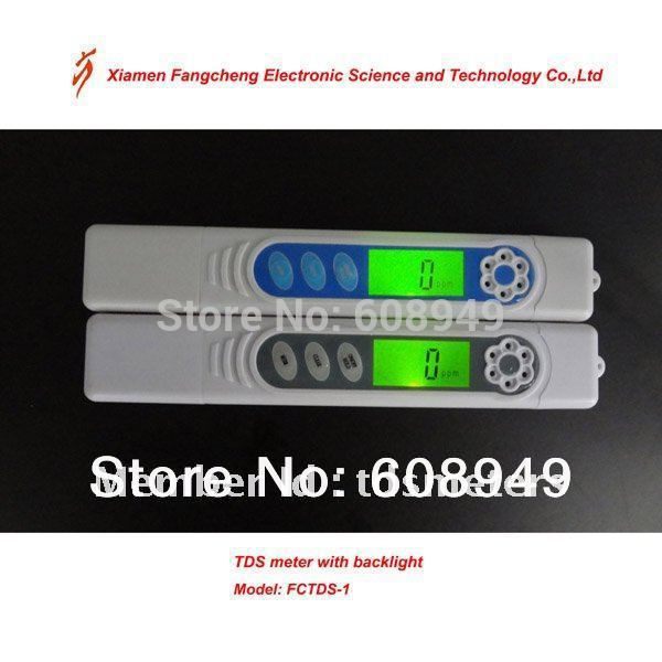 Large LCD display + backlight, high precision 0~9999ppm, portable TDS+EC+Temp. water tds meter(China (Mainland))