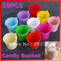 D1910 x Mini Cute Chocolate Candy Bucket Keg Wedding Party Favors Kisses DIY