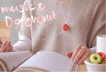 Free Shipping+16 pcs/lot Music Doughnut headset line/Earphone Cable Winder, MP3 coiling device,Colors Mixed