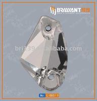 Bright glass stone for garment