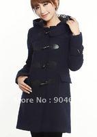 Fair maiden with cap coat buckles recreational coat.
