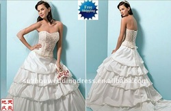 2011 new model wedding dress BG8(China (Mainland))