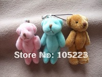 Free shipping, 100pcs/lot, 6cm Tinny teddy bear, small bears. Could use for cellphone, bag, key chain. Promotional items