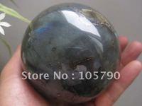 Natural labradorite Quartz Ball  3.7 Inch  Crystal Sphere Orb Healing+ Free Shipping