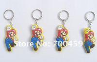 Wholesale -  Lots of 500pcs Mario  Creative  Key chain Straps & +Free Shipping