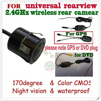wireless car rear camera car monitor parking system backup viewer  for Universal camera(all of car) night vision free shipping