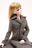 600# Plaid Coat/Clothes/Outfit 1/4 MSD DOD BJD Dollfie