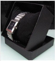 Free shipping Wholesale( 30pcs)  watch Wrist watches boxes Black watch box xith pillow cardboard watch bo