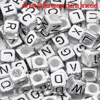 Free Shipping 500pcs Mixed Alphabet /Letter Acrylic Cube Beads 6x6mm(W00840)
