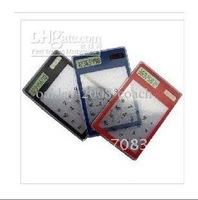 Novelty Transparent Solar Calculator / New Exotic Portable Computer 5 colors 10pcs/lot (EA