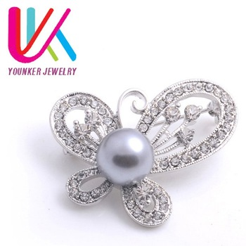 FREE SHIPPING! wholesale! 60pcs/lots,alloy brooch jewelry,Crystal wedding Brooches,Cheap Butterfly Brooches (YBR24)