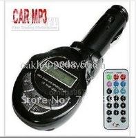 New Car MP3 Player FM Transmitter USB PenDrive/SD/MMC Black free shipping