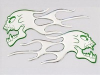 Wholesale 5 pairs Green Nontoxic Decal Monster Decorative Stickers Free Shipment