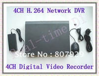 New Arrival,4CH H.264 Compression Network DVR,Real-Time Digital Video Recorder,Video Resolution to D1,PAL/NTSC