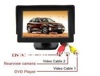 "Free shipping!! 4.3"" TFT LCD Color Dashboard Backup Car Monitor"