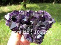 Amazing 1.97lb Uruguary NATURAL Amethyst Quartz Crystal Cluster + Free Shipping