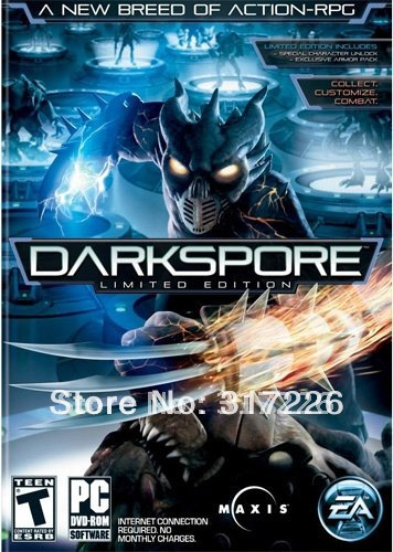 Freeshipping Wholesale pc game Darkspore Multi-language best pc games 2010, not online(China (Mainland))