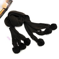 Free Shipping,Wholesale,6 wild fashion ball, long wool scarves / knitted scarf Sphere / shawl